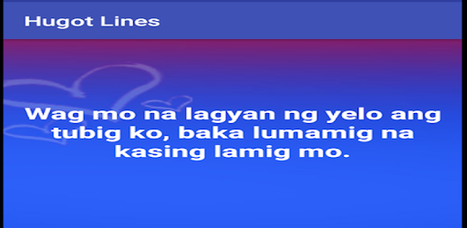 Hugot Lines - by Aliapps Corp  - Entertainment Category
