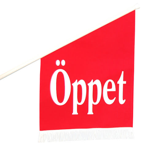 "Flagga Tyg ""ÖPPET"""