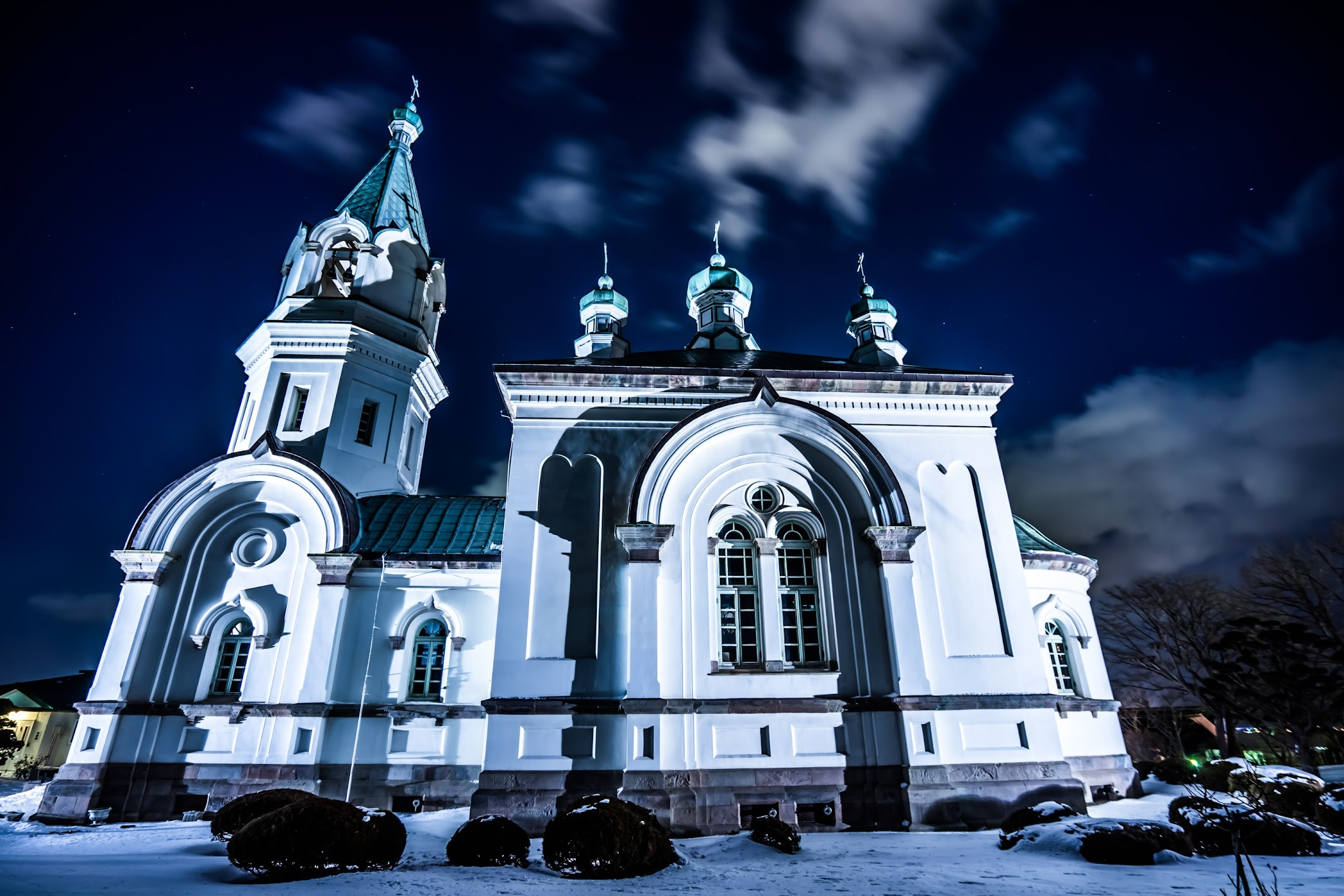 Hakodate Orthodox Church light-up3