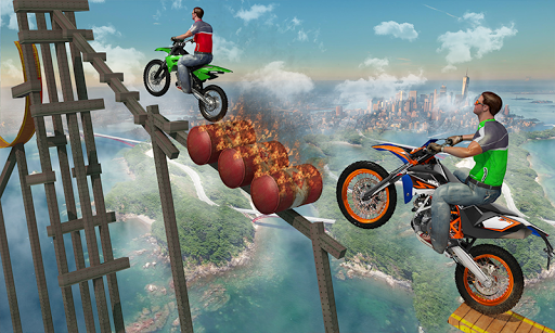 Bike Tricks Trail Stunt Master -Impossible Tracks apktreat screenshots 2