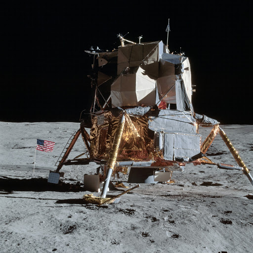 View of Apollo 14 Lunar Module on the Moon