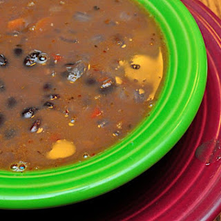 Pressure Cooker Black Bean Soup.