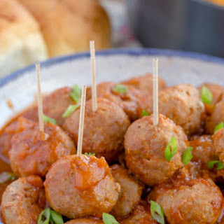 Spicy Pineapple Barbecue Turkey Meatballs.