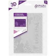Crafters Companion Gemini 5x7 3D Embossing Folder - Dear Santa