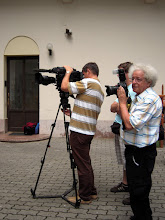 Photo: A sajtófogadás tudósítói
