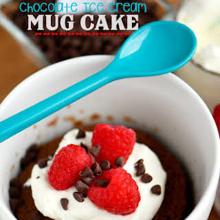 Chocolate Ice Cream Mug Cake.