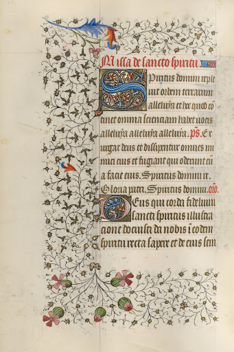 Decorated Initial S; Decorated Initial D