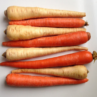 Roasted Carrots & Parsnips With Cumin & Caraway.