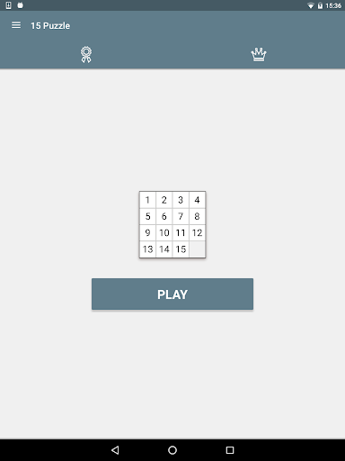 15 Puzzle (Game of Fifteen) - screenshot