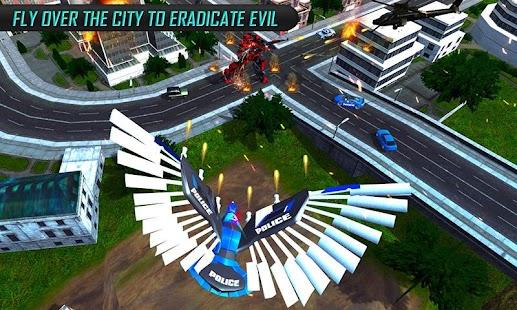 US Police Transform Robot Car Cop Eagle game - náhled