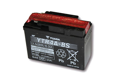 YUASA MC-batteri YTR 4A-BS underhållsfritt (AGM) inkl. syrapack
