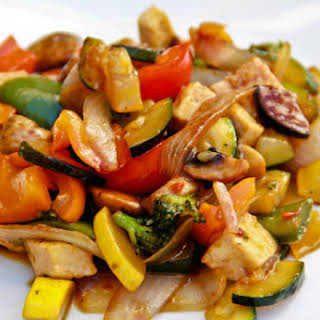 Stir-fried Tofu with Vegetables.