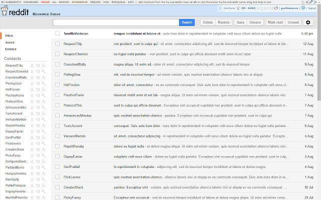 Reddit Inbox Revamp