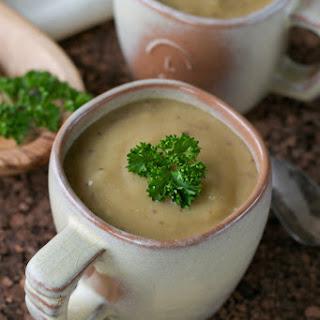 Creamy Vegan Roasted Potato Soup