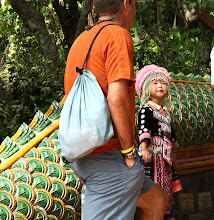 Photo: Day 336 - Little Girl in Hill Tribe  Dress at the Wat in  Doi Suthep #2