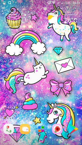 Girly Galaxy Wallpapers Cute Kawaii Backgrounds App Report