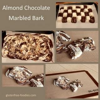 Almond Chocolate Marbled Bark