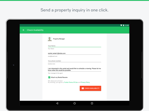 Trulia Rent Apartments & Homes app (apk) free download for Android/PC/Windows screenshot