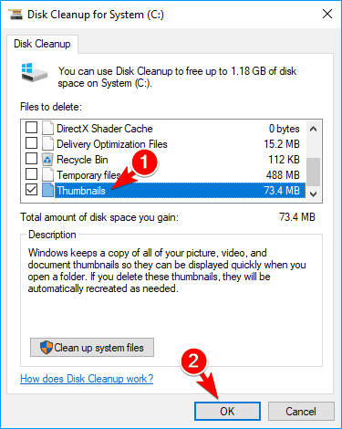 Use the Disk Cleanup Wizard