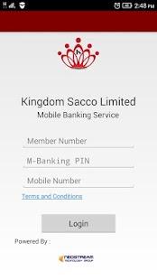 Kingdom Sacco mBanking - náhled