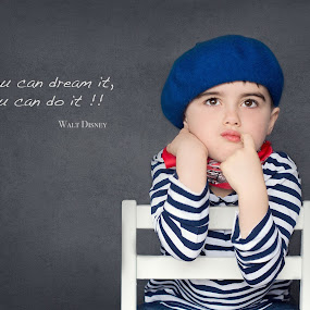 If you can dream it, you can do it by Inna Fangel - Typography Quotes & Sentences ( family, kids, boy, kid )