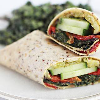 Roasted Veggie Mediterranean Wrap with Sabra Garlic Herb Spread