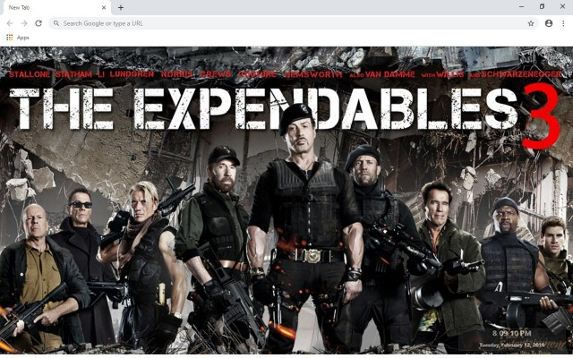 The Expendables New Tab Theme