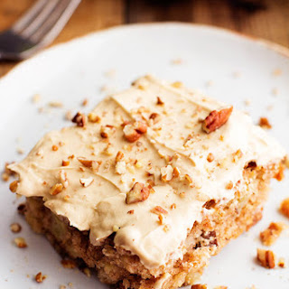 Apple Pecan Spice Cake with Brown Sugar Cream Cheese Frosting..