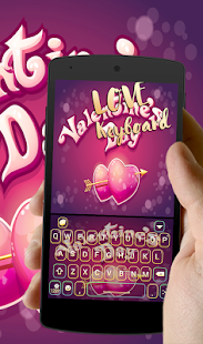 Valentine Day Love Red Heart keyboard Theme - náhled