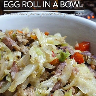 Low Carb Egg Roll In A Bowl.