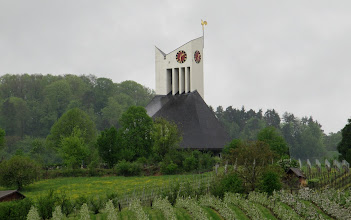 Photo: Day 32 - A Church with an Interesting Steeple!  (Somewhere in Switzerland and not Germany actually)