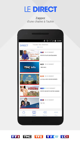 MYTF1 Android App Screenshot