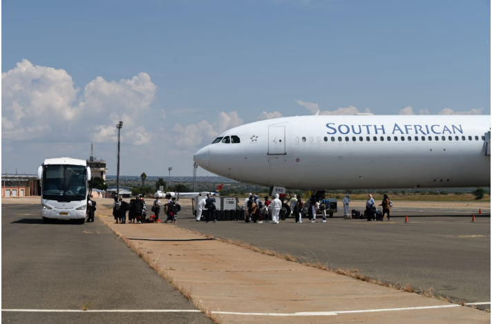 A group of South Africans repatriated from Wuhan in China ended a 14-day quarantine period on Sunday.