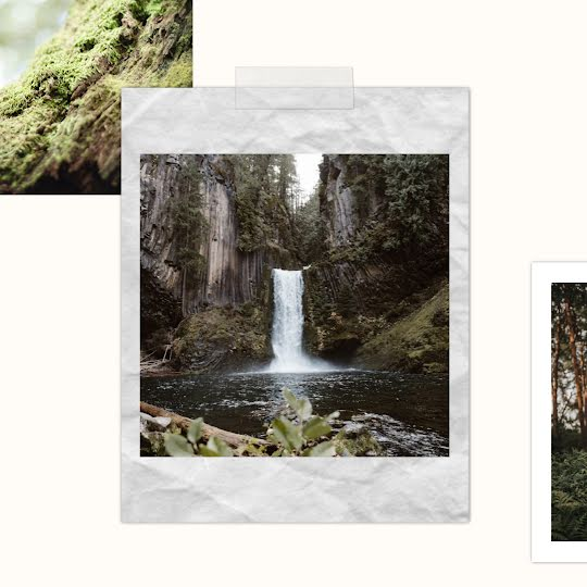 Waterfall Collage - Instagram Post Template