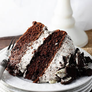 Chocolate Cake with Whipped Oreo Icing.