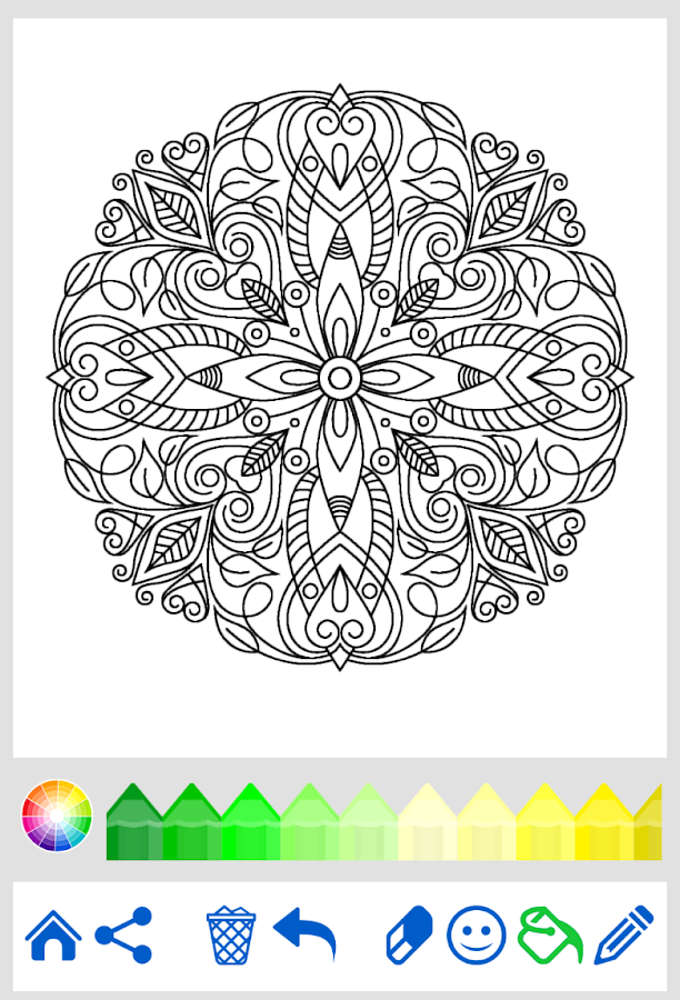 mandala coloring for adults android apps on google play. Black Bedroom Furniture Sets. Home Design Ideas