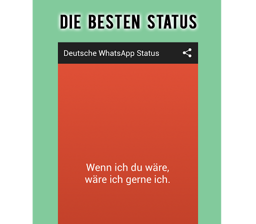 Deutsche WhatsApp Status