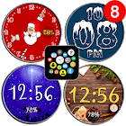 Winter Watch Face Pack Free - Snow Santa Christmas icon