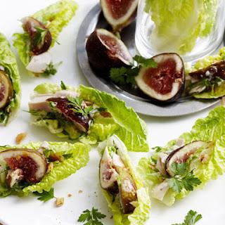 Caesar Salad Bites with Figs.