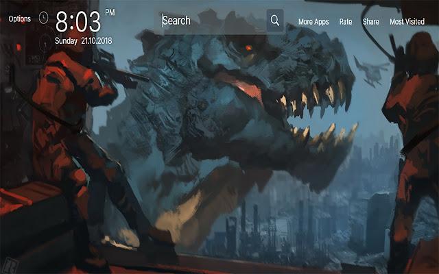 Godzilla Wallpapers for New Tab