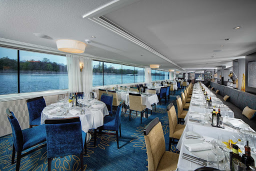 Avalon-Envision-Dining-Room-00.jpg - There's not a bad view in the main dining room aboard Avalon Envision.