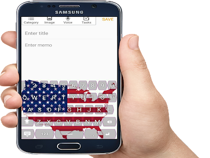 Put your Pictur or USA flag country in keyboard - náhled