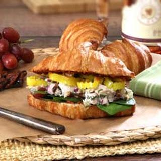 Thanksgiving Turkey Salad Sandwich.