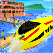 Water Surfing Train Simulator