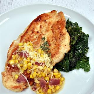 Chicken Breast with Creamy Corn and Bacon Recipe
