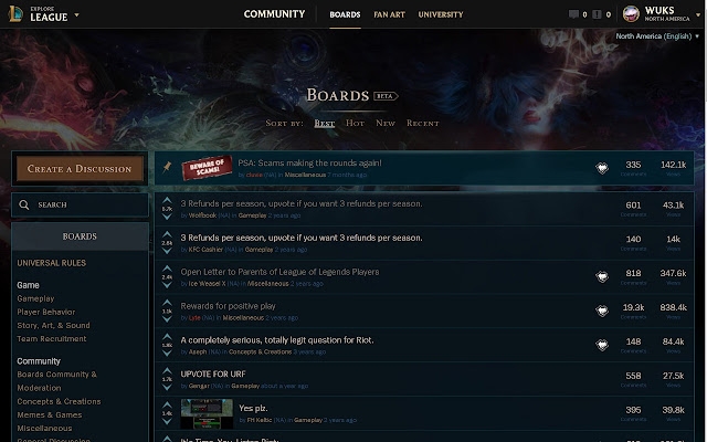 League of Legends Boards Themes