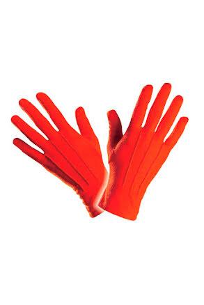 Handskar korta, röda