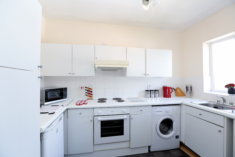 Fully equipped kitchen at Prince Regent Court