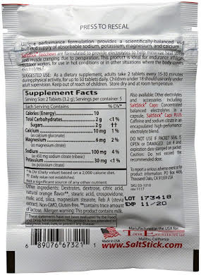 SaltStick Fastchews Chewable Electrolyte tablets POP: Box of 12 Packets alternate image 4