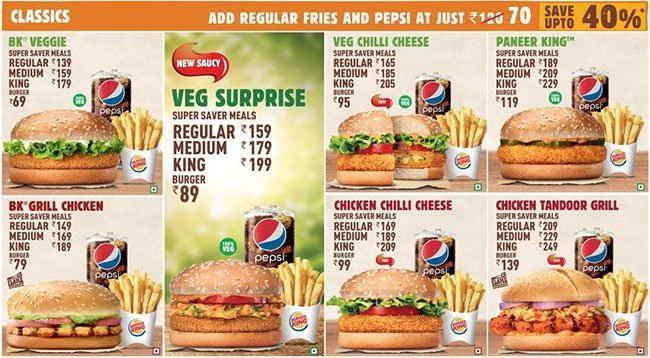 Burger King menu 2
